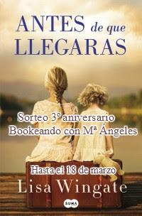 Sorteo en «Bookeando con M.ª Ángeles» (hatsa el 18/3)