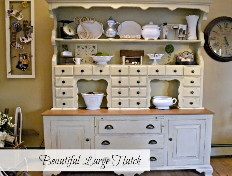 a monster hutch turned French Country www.homeroad.net