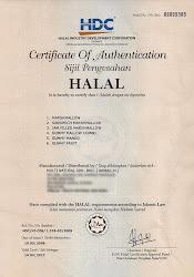 HDC Halal Certificate utk Marshmellow kami!
