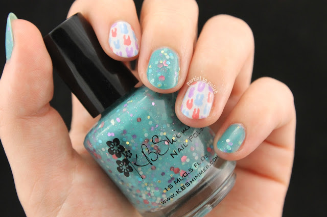 Tooth Nail Art Featuring KBShimmer Laugh Myself Lily & piCture pOlish LakoDom