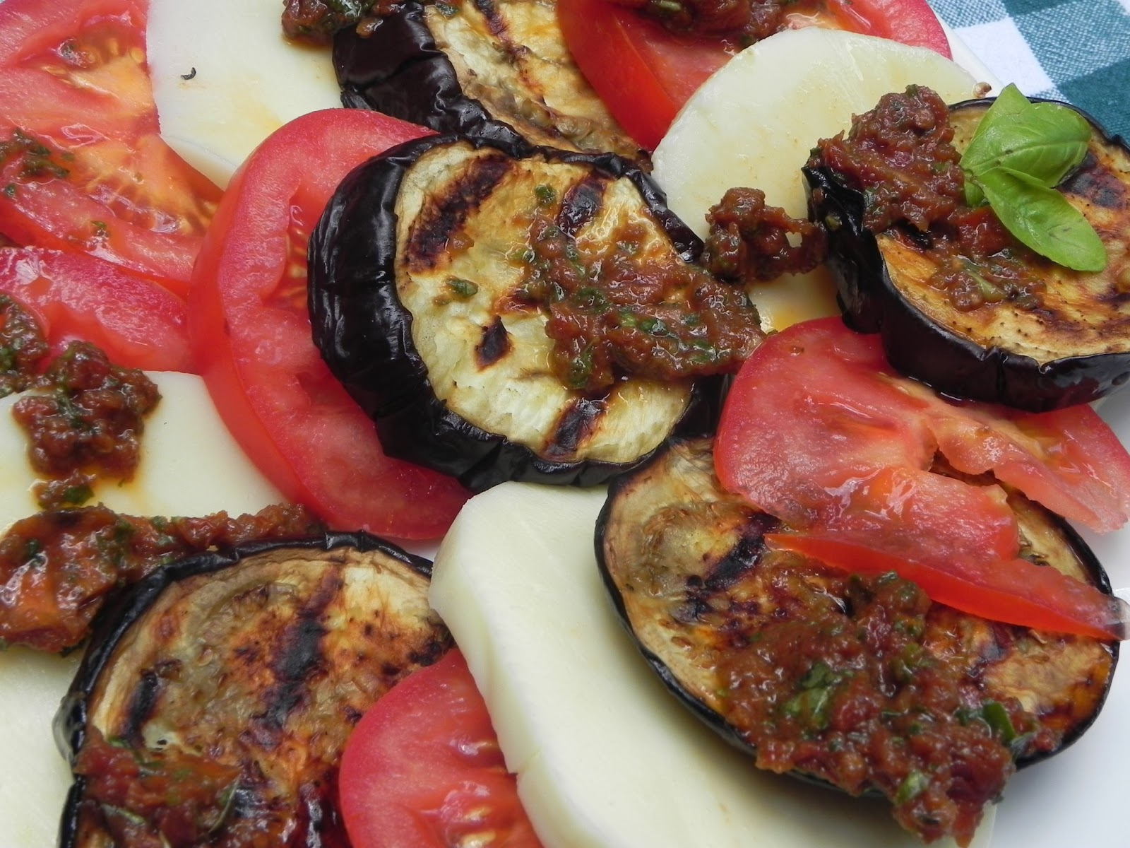 Yates Yummies: Grilled Eggplant Caprese