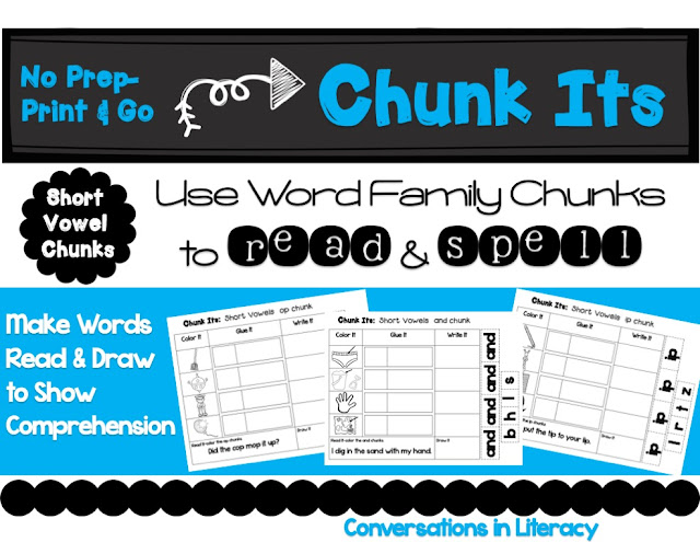 Chunk Its using word families to read and spell