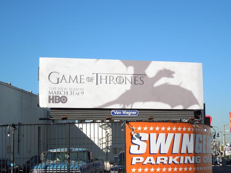 Game of Thrones 3 dragon shadow billboard