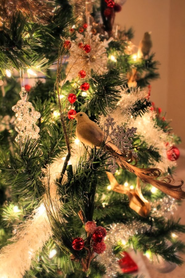 Tiny birds in my Christmas Tree! #christmas #tree #vintage #home