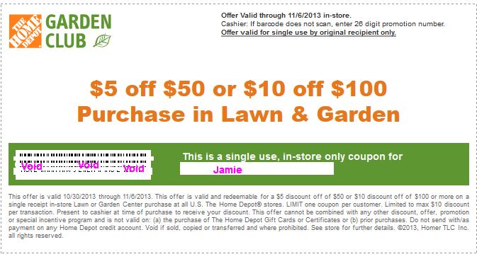 Homedepot discount coupon