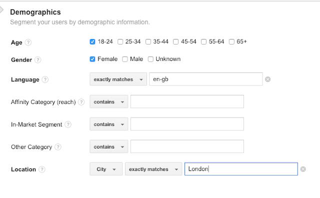 Demographics advanced segment