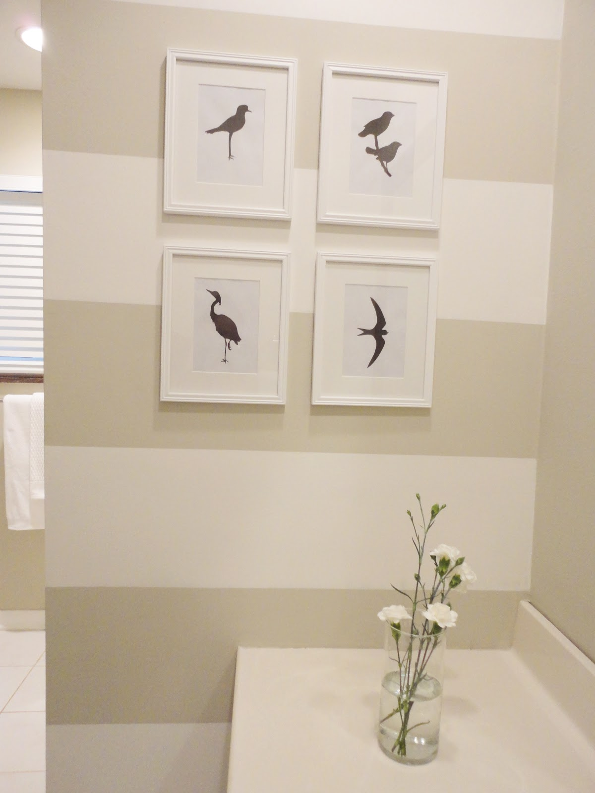 Livelovediy our guest bathroom makeover for Small bathroom wall art