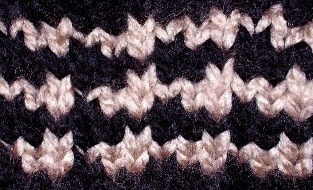 Houndstooth Knitting Pattern : Loom Lore: Loom stitches: Houndstooth Checks