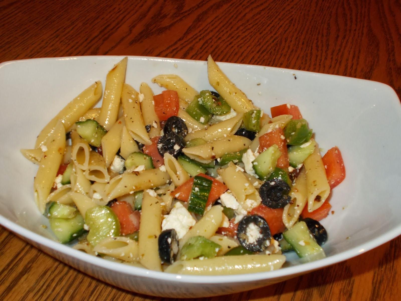 manger avec mo salade de p 226 tes 224 la grecque