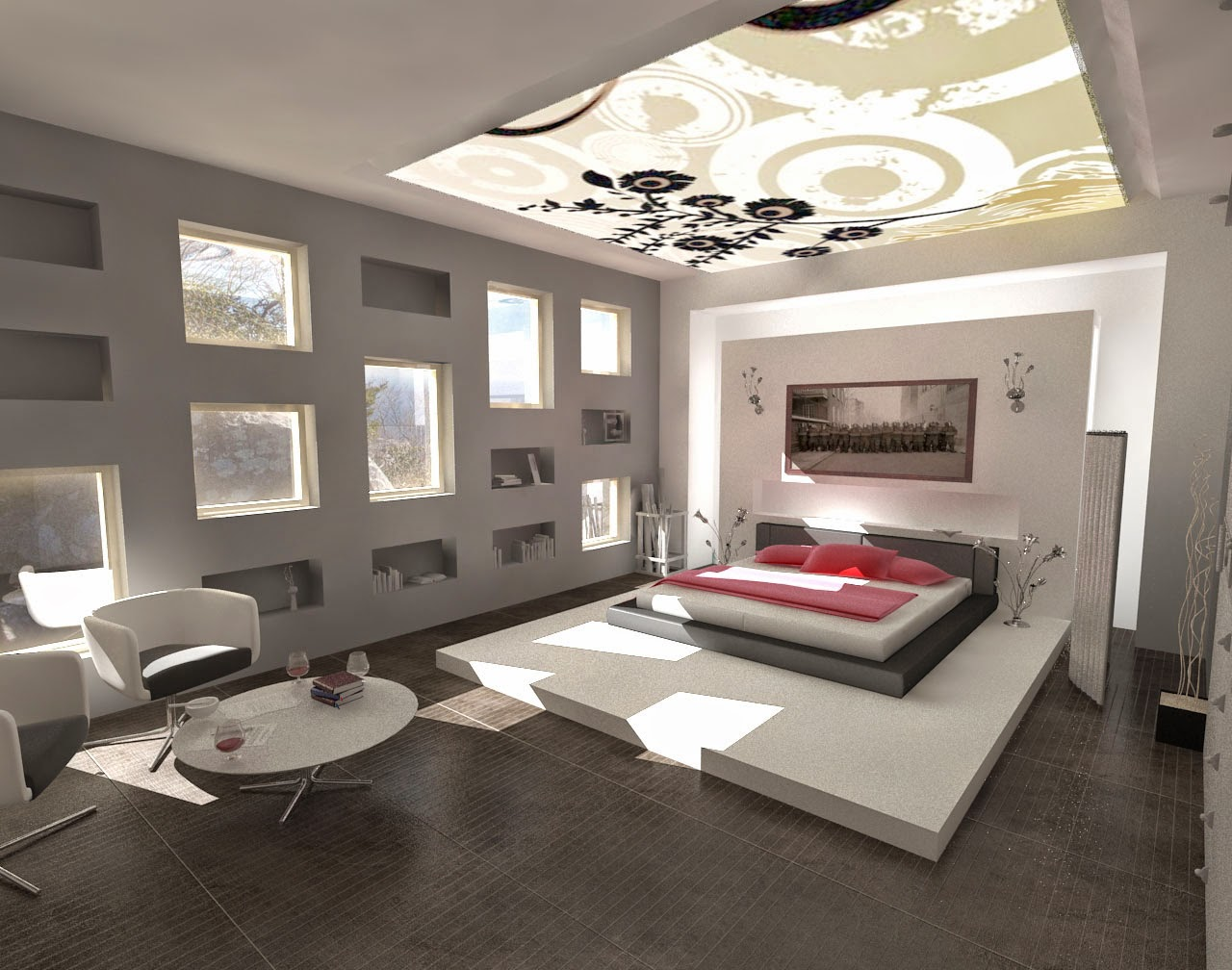 chambre mobilier design moderne