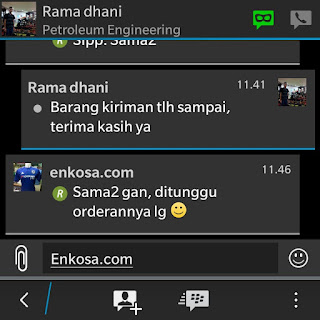 Testimoni Ramadhani di enkosa sport toko online jersey bola tepercaya gambar testimoni screenshot hanphone