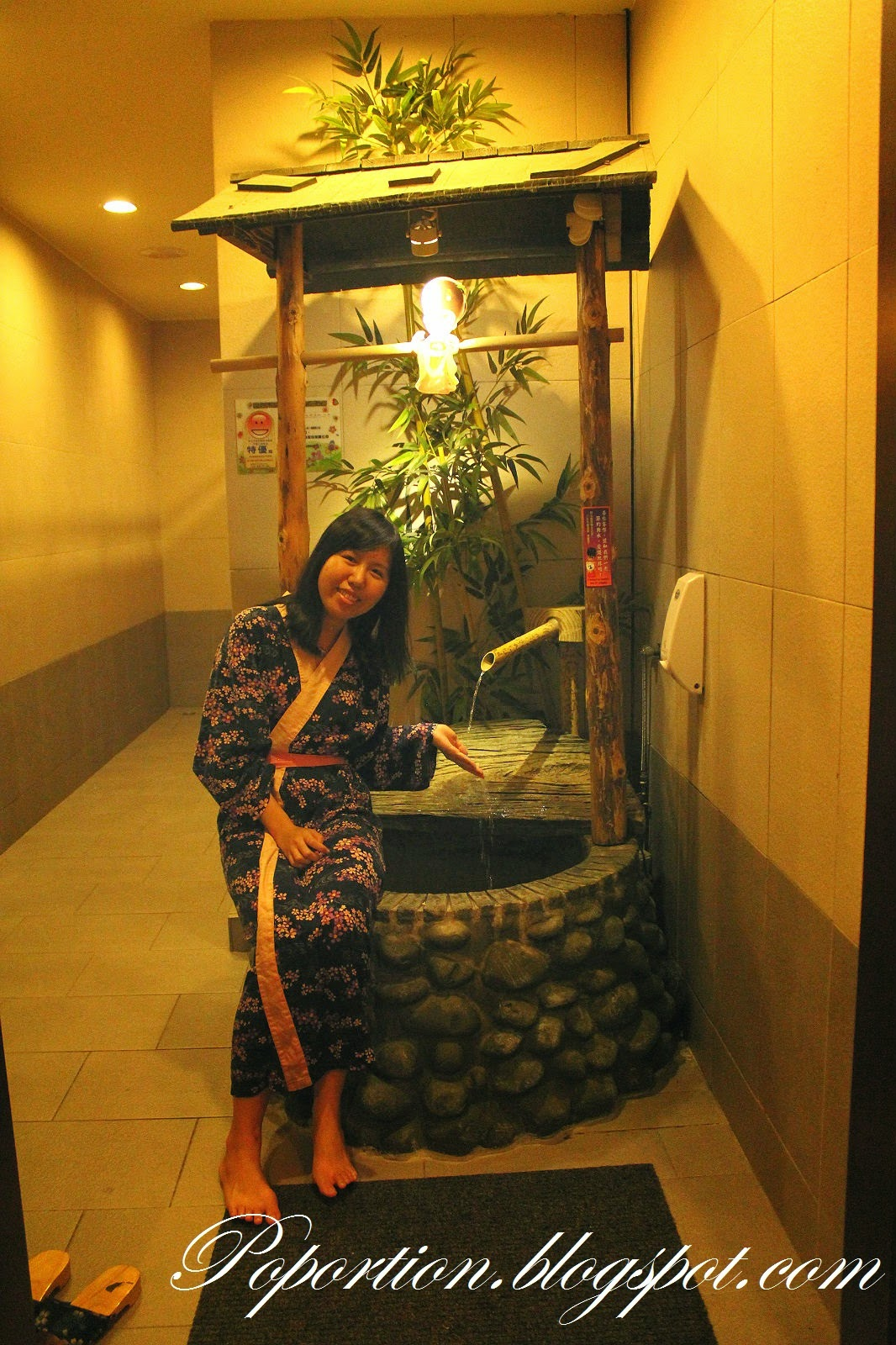 yukata by the well