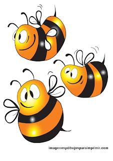 abejas pequeñas para imprimir