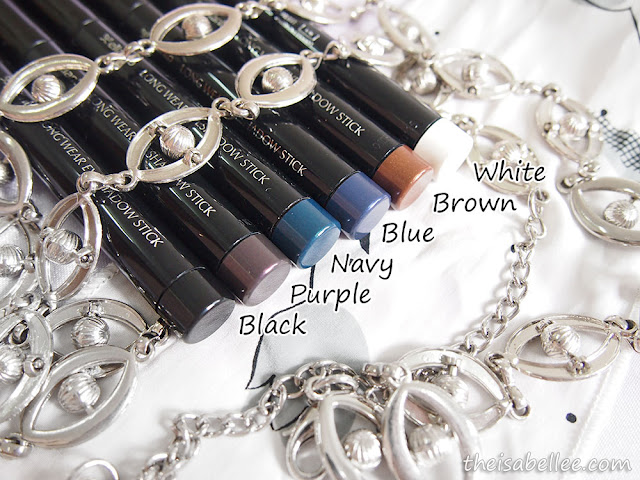 6 colours of Elianto Long Wear Eyeshadow Stick