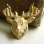 Stag Head Brooch