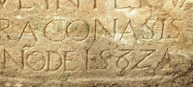 Detalle de la inscripción