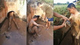 Homem mergulha em tubulação de esgoto para resgatar cãezinhos filhotes