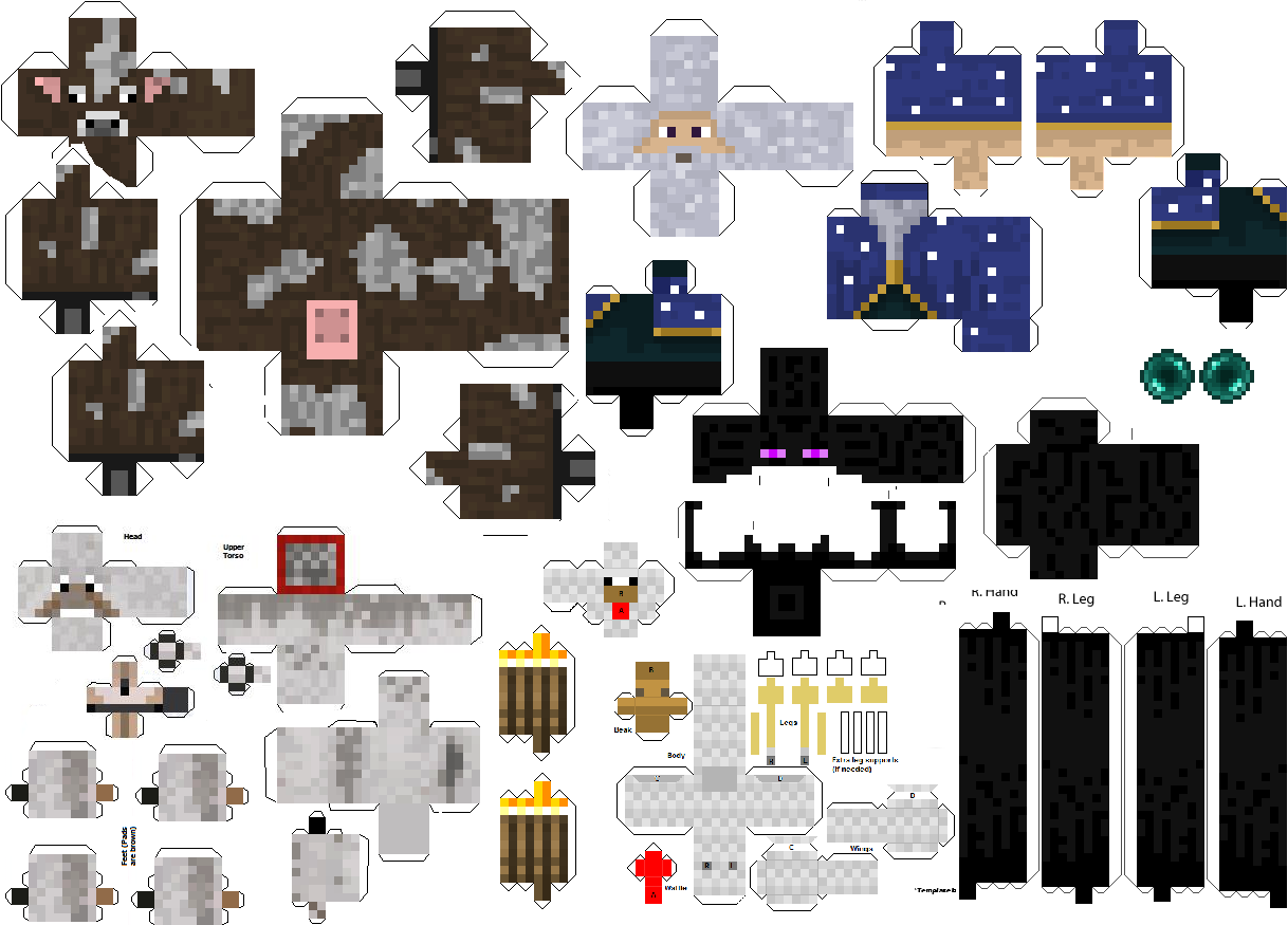 Minecraft Pack de Papercraft