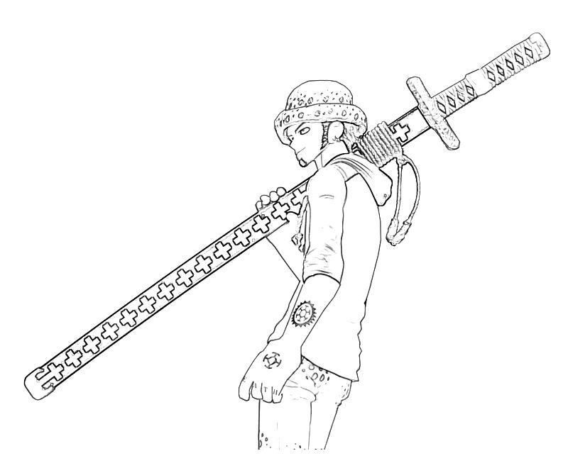 printable-one-piece-trafalgar-law-look-coloring-pages