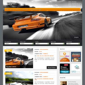 Gears blogger template. tumblr template for blogger template