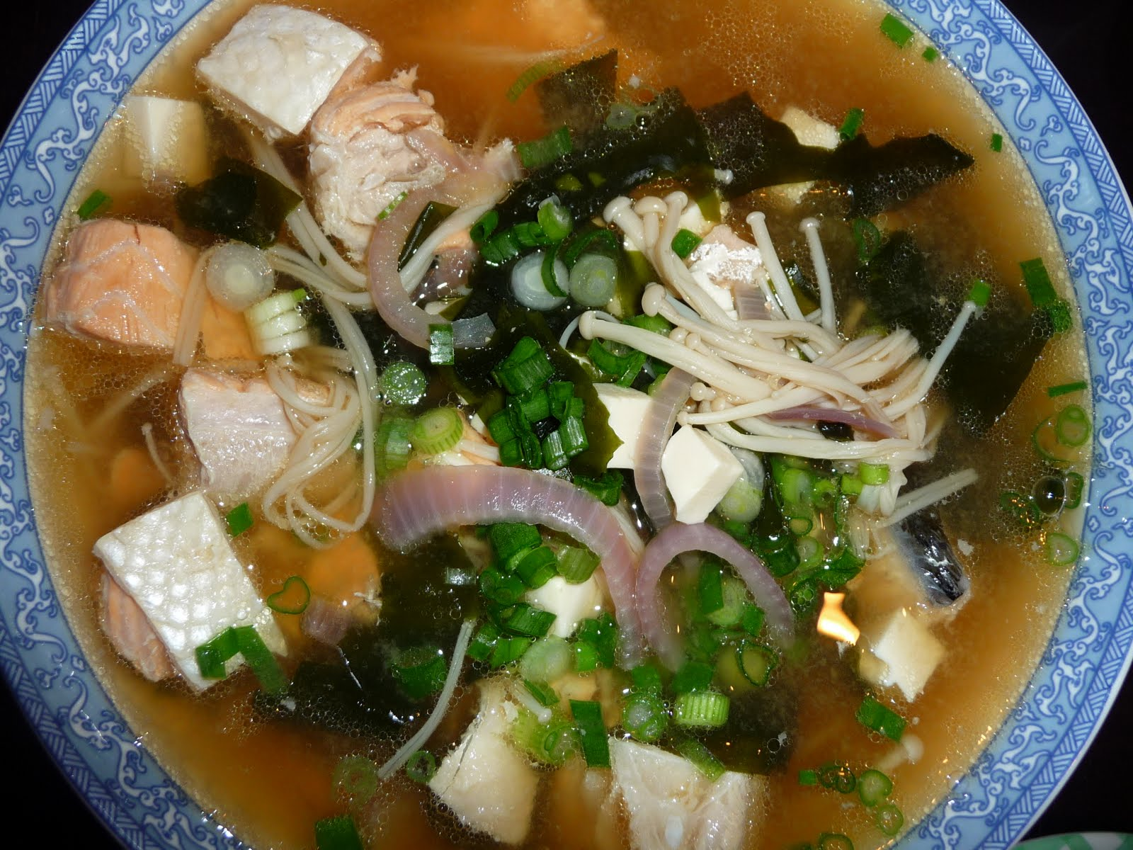 Photo Al How To Cook Salmon Head Miso Soup All