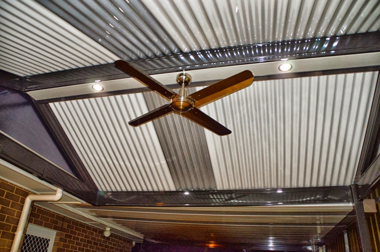 Downlights and fans on pergolas verandahs and patios adelaide sa friday 24 april 2015 mozeypictures Image collections