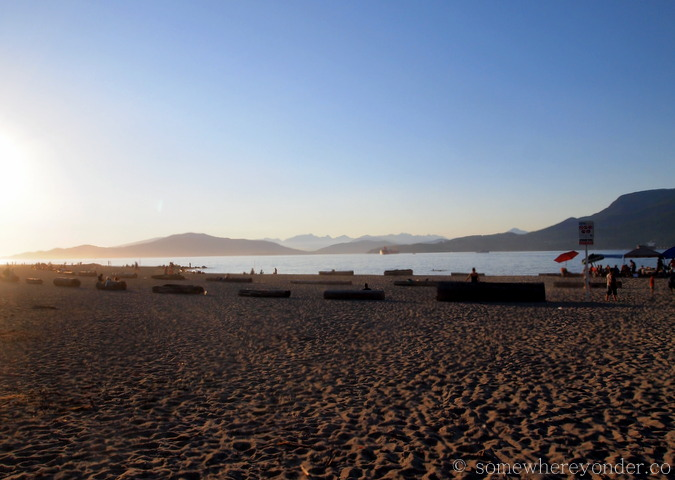 Chilling on the beach - Vancouver, Canada