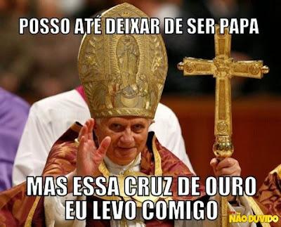 Imagens Engraçadas sobre o Papa
