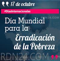 Día Mundial para la Erradicación de la Pobreza #DíasInternacionales