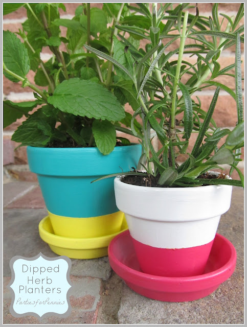 Parties for Pennies - Mother's Day Dipped Planters