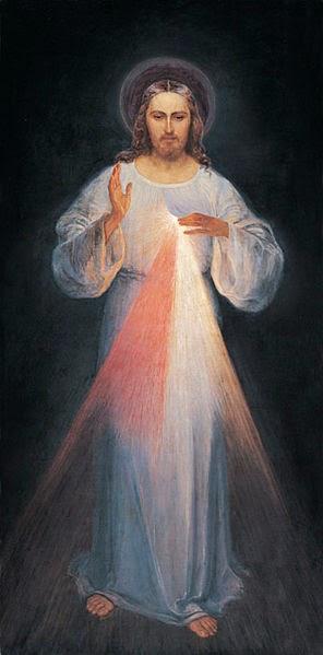 Imagem elaborada com orientações de Santa Faustina ao pintor Eugeniusz Kasimirowski