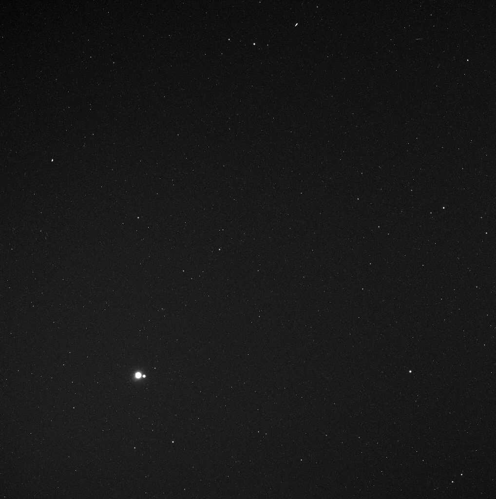 The earth, moon and stars