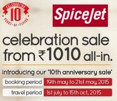 SpiceJet CelebrationSale - Flights from Rs. 1010