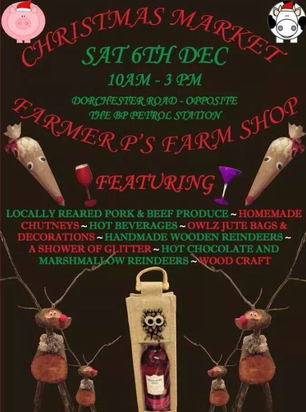 Christmas Market at Farmer P's in Weymouth 6th Dec 2014