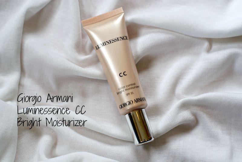 Luminessence CC Color Control Bright Moisturizer/ Giorgio Armani.