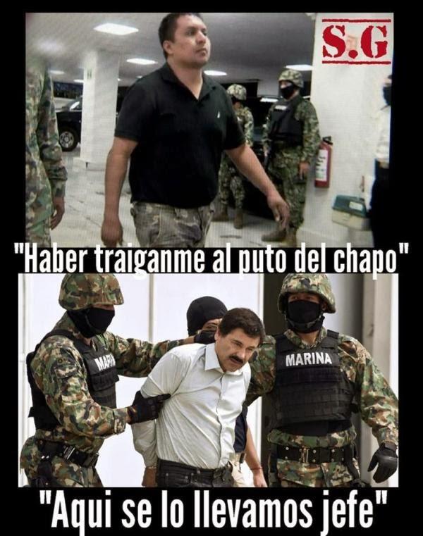 """Los Zetas celebran caída de """"El Chapo Guzmán"""" en narcomantas"""