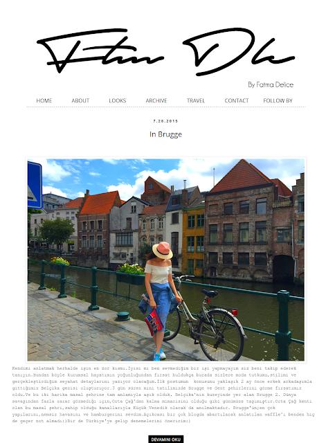 Fatma Delice Blog Tasarımı