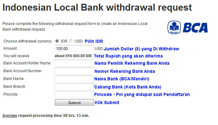 Cara withdraw duit forex