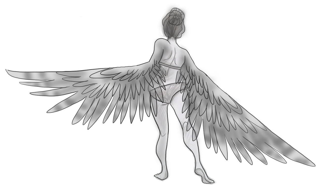 Gallery For gt Girl With Wings Drawing Tumblr