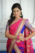 Sri Mukhi Gorgeous Half saree Photos-thumbnail-20