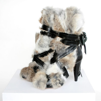 isabel marant rabbit fur boots