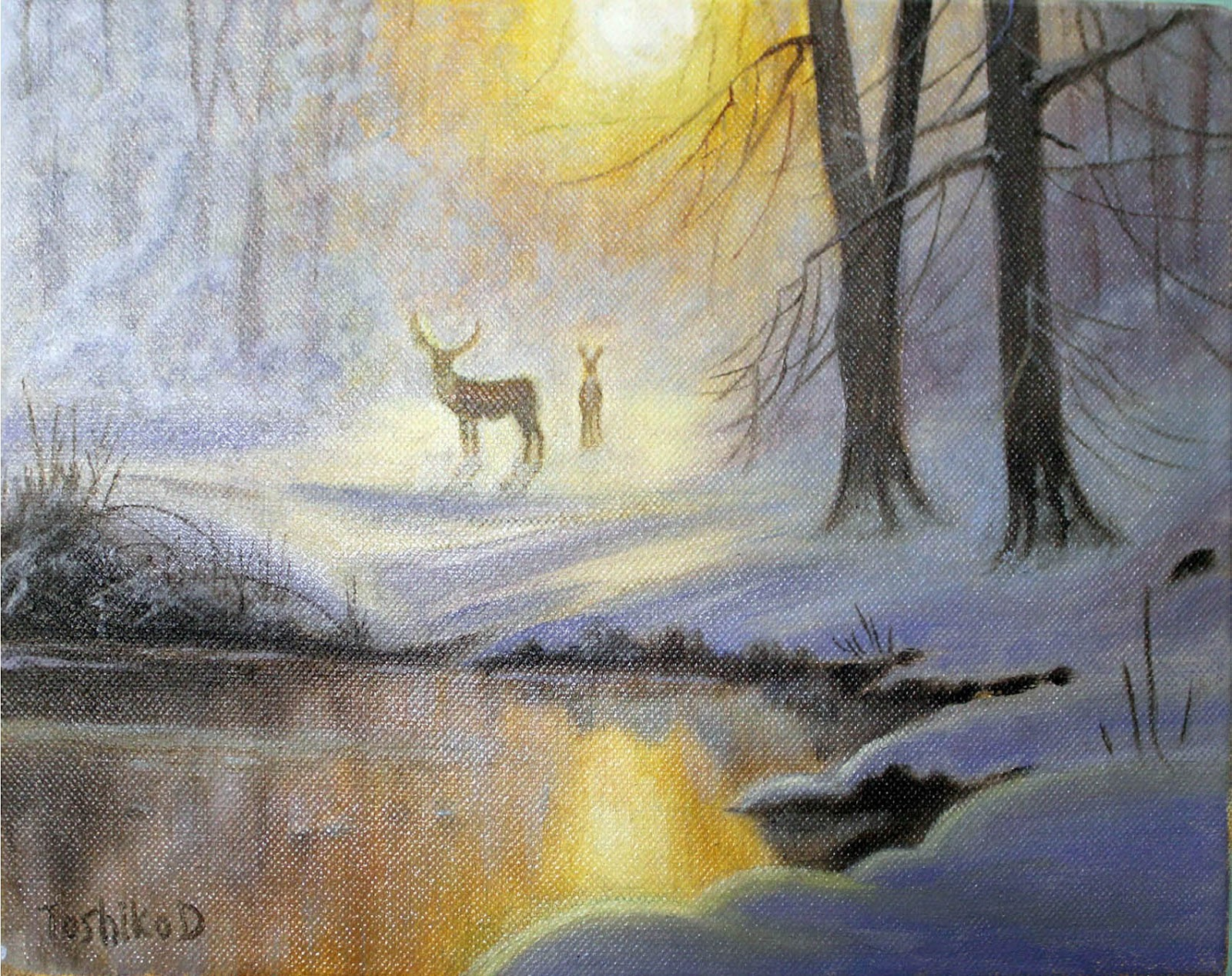 How To Paint Snow Scenes In Acrylic Paint
