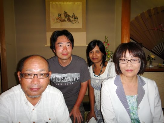 We with hubby's father and family (2010)