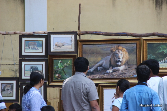 realistic lion oil painting