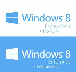 Microsoft Windows 8 Professional VL / Enterprise Final Retail (x86/x64) AIO Inc