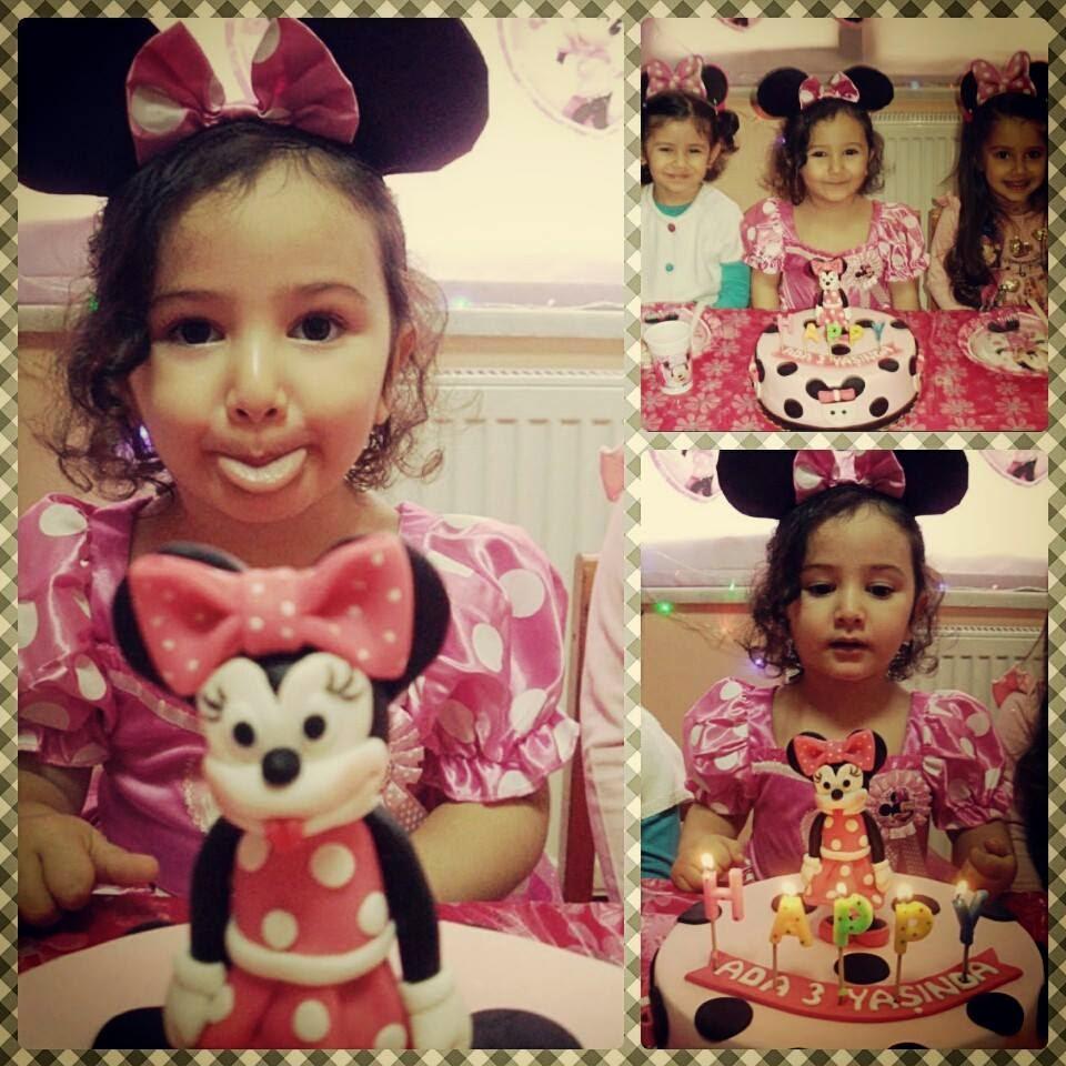 minnie mouse doğum günü pastası