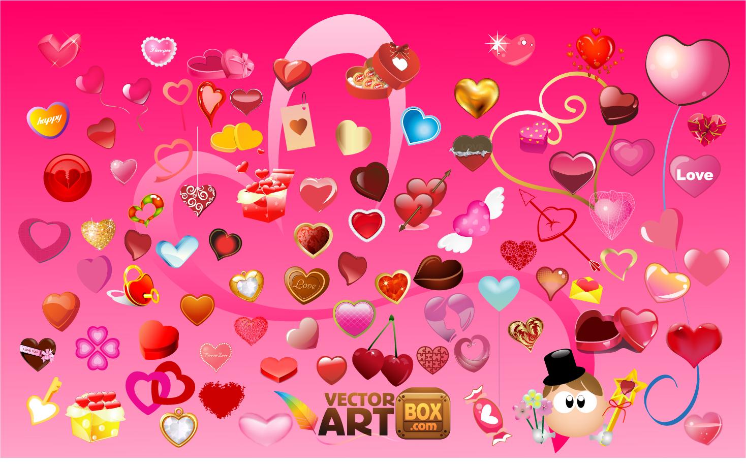 バレンタインデー ハートのクリップアート heart clip art valentine's day イラスト素材