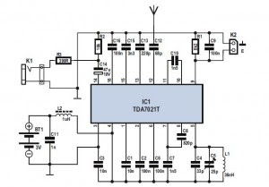 IC TDA7012T Mini FM Received Based on Single FM circuit with explanation