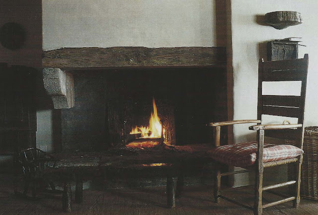 Cte Est Dec-Fev 2001-2002, Axel Vervoordt Chalet, Wood Mantel as seen on linenandlavender.net