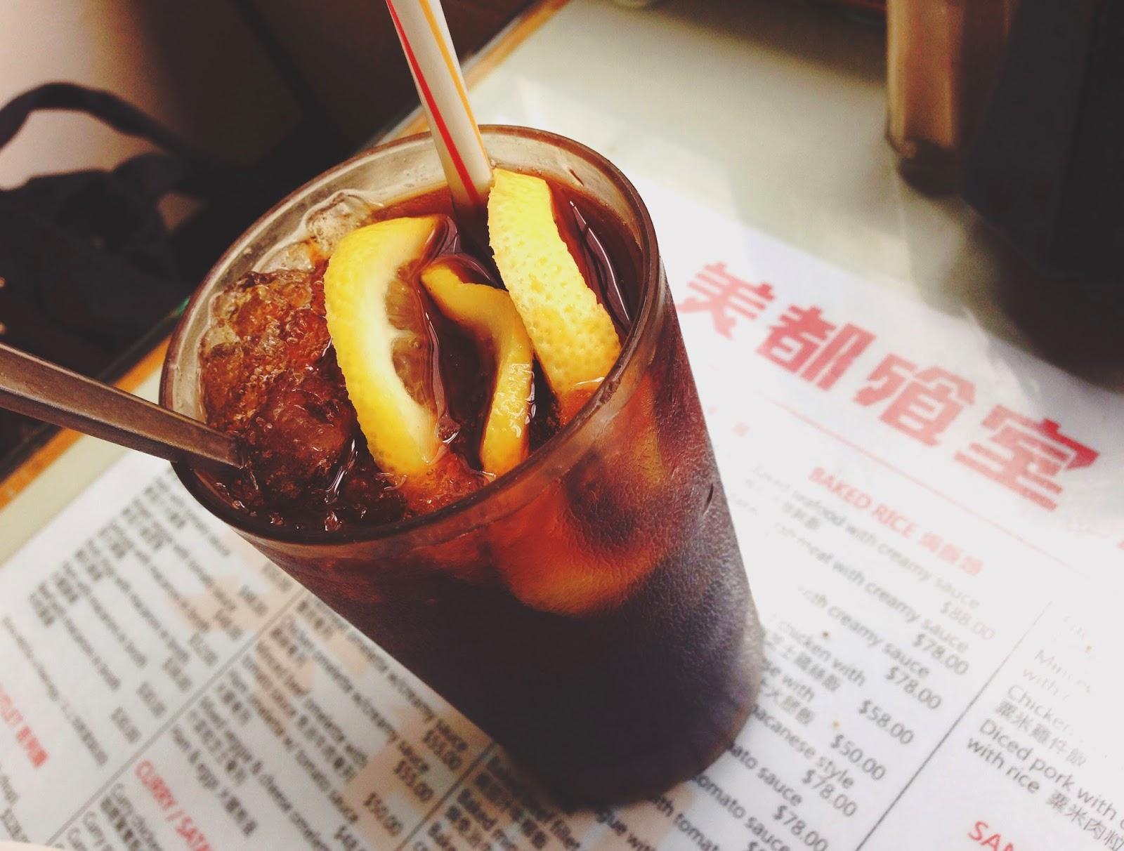 Mido Cafe Hong Kong Iced Lemon Coffee